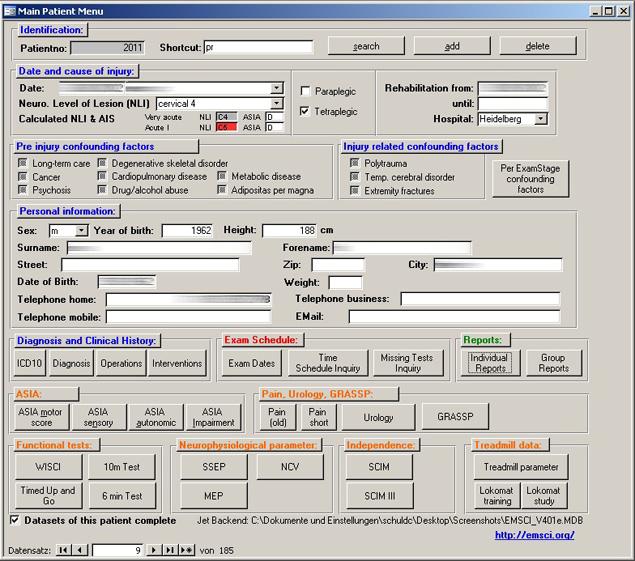 The Database - EMSCI